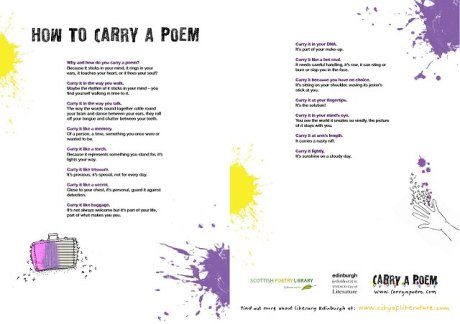 How to carry a poem - worksheet