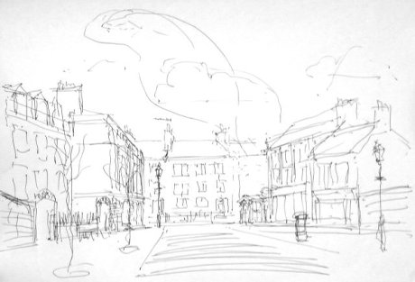 First sketch of the Carry a Poem street